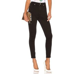 7 For All Mankind High Waist Skinny Jeans black